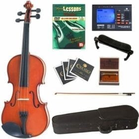Cecilio CVN-100 Solid Wood Student Violin with Tuner and Lesson Book, Size 4/4 (Full Size) 7
