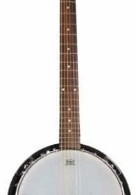 6 String Banjo Guitar with Closed Back Resonator and 24 Brackets 1