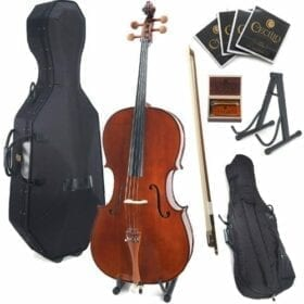 Cecilio CCO-300 Solid Wood Cello with Hard & Soft Case, Stand, Bow, Rosin, Bridge and Extra Set of Strings, Size 4/4 (Full Size) 7