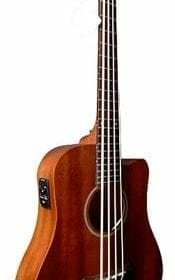 Gold Tone GT-Series M-Bass 4-String Acoustic MicroBass for Electric Bass Guitar - Natural 8