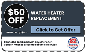 $50 Off Water Heater Replacement or Installations