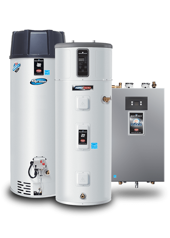Line up of Electric Water Heaters